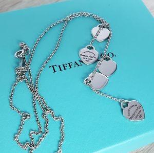 Tiffany Cascading Mini Hearts Necklace